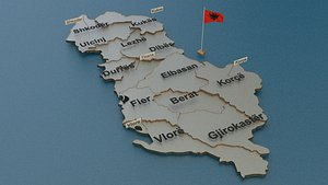 3D model albania state cities