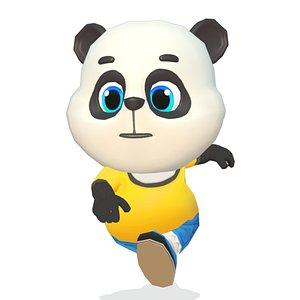 panda bear animations rig 3D