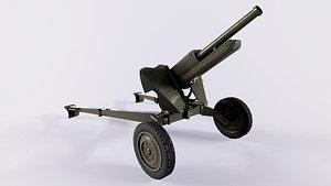 76 mm Mountain Gun M-99 2A2 3D model