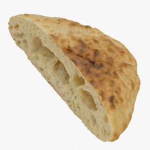 stone baked bread 01 3D model