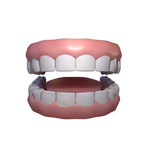 stylized human teeth model