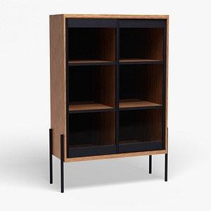 3D Scandinavian Display Cabinet