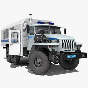 ural 4320 police vehicle 3D model