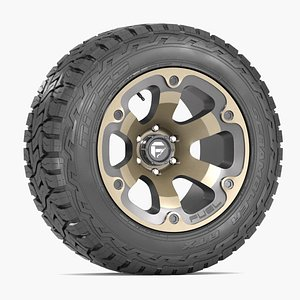 3d model road wheel tire 2
