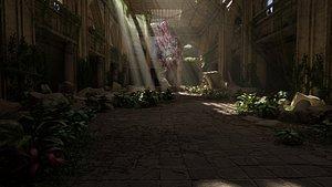 3D Sacred Tree Scene model