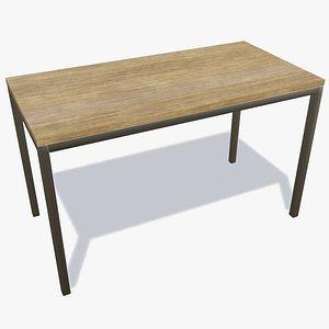 wooden bench - new 3D