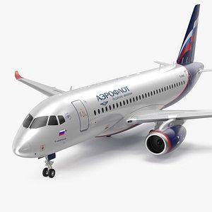 3D Sukhoi Superjet 100 with Saberlets Aeroflot