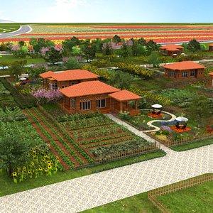 Village View 3D model