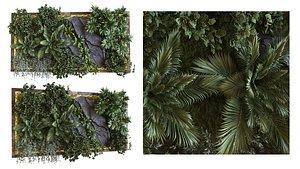 3D green wall set 041
