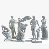 Classical Statues Stylized