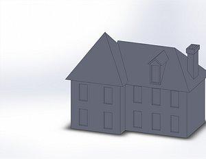century 19th villa 3D model