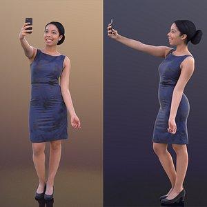 3D woman selfie