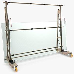 heavy duty steel glass 3D model