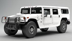Hummer H1 Alpha White model