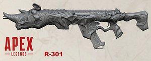 3D legends gun r301 printing model