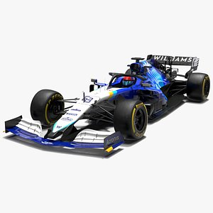 williams f1 racing fw43b 3D model