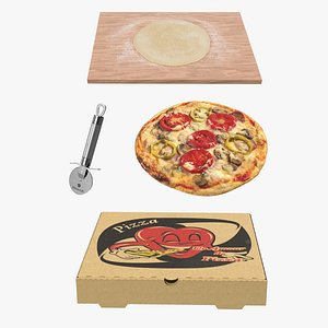 3D Pizza Prepearing Collection 2