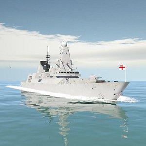 3D type 45 daring class destroyer