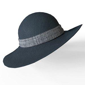 3D womens hat model