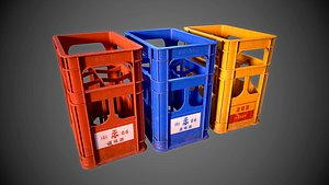 Sake Crate - PBR Game Ready Low-poly 3D model 3D