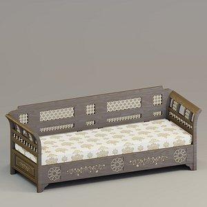 sofa fabric designed 3D model