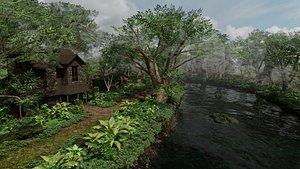 tree landscape nature 3D model