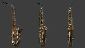 saxophone sax 3D model