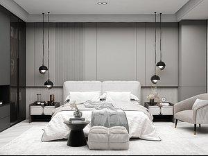 3D Modern Style Bedroom - 516 model