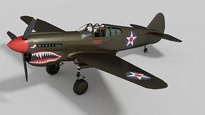 p-40 warhawk 3D
