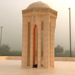 shahidlar azerbaijan monument 3D model