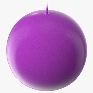 Altar Candle Sphere Purple 3D
