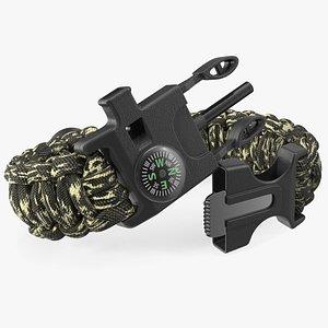 3D Tactical Paracord Bracelet Camo