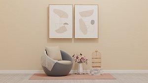 3D Wicker Chair