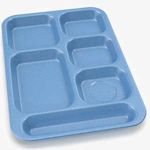 3D lunch food tray model