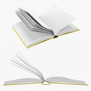 3D Open book mockup 03 model