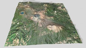 Mountain landscape Kirishima Kinkowan National Park 3D model