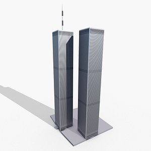 World Trade Center Twin Towers New York City 3D model