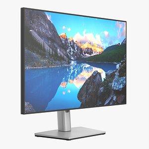 3D Dell Ultra Sharp LCD 24 inch monitor model