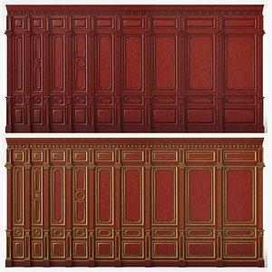 Wooden panels 03 010 3D model