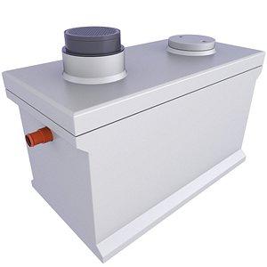 Precast Concrete Septic Tank 11 3D model