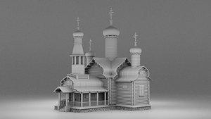3D architecture church building