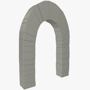 3D model stone arc