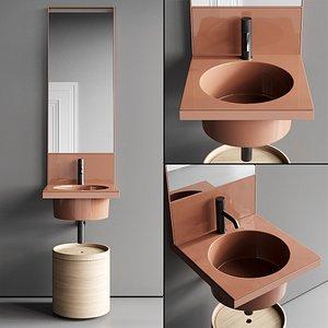 3D Ceramica Cielo Elle Vanity Unit Set 3