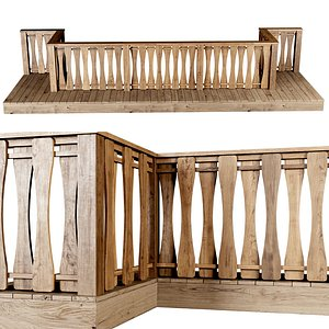 3D stair fencing wooden