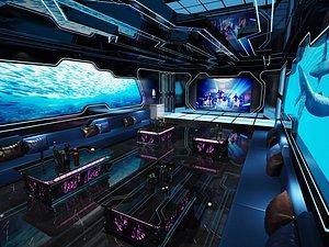 Bar interior model