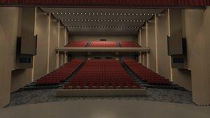 3D Modern Theatre model