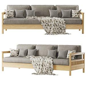 tribeca sofa three-seater 3D model