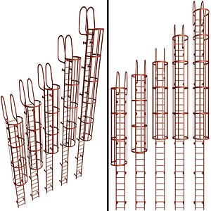 3D escape safety elements model