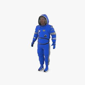 3D model Spacesuit Boeing Starliner
