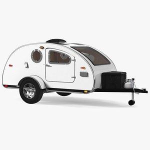 Teardrop Camping Trailer Rigged model